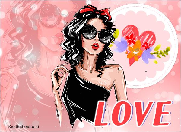 eKartki Miłość - Walentynki Love, love, love...,