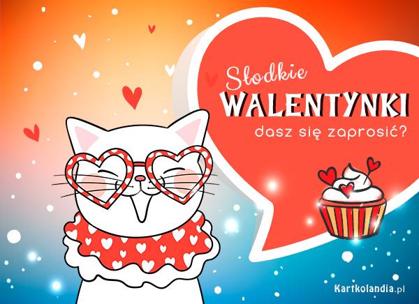 eKartki elektroniczne z tagiem: Kot Słodkie Walentynki,