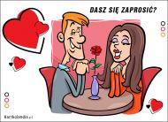 eKartki Miłość - Walentynki Dasz się zaprosić?,