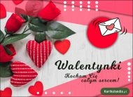 eKartki Miłość - Walentynki Kocham Cię całym sercem!,