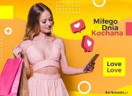 eKartki Miłość - Walentynki Miłego Dnia Kochana!,
