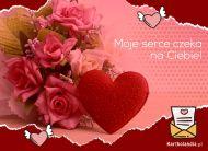 eKartki Miłość - Walentynki Moje serce czeka na Ciebie,