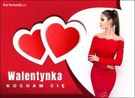 eKartki Miłość - Walentynki Walentynka, Kocham Cię!,