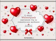 eKartki Miłość - Walentynki Zapraszam Cię na romantyczne spotkanie,
