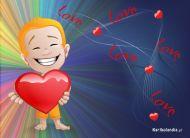 eKartki Miłość - Walentynki Tęczowa miłość,