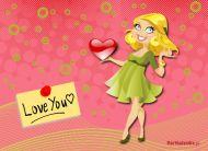 eKartki Miłość - Walentynki Promienna Walentynka,