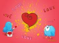 eKartki Mi³o¶æ - Walentynki Walentynkowy malarz,