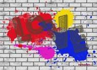 eKartki Miłość - Walentynki Walentynkowe graffiti,