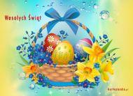 eKartki Wielkanoc Koszyczek ze ¶wiêconk±,