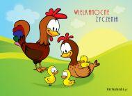 eKartki Wielkanoc Wielkanocna rodzinka,