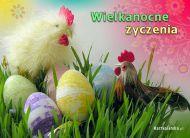eKartki Wielkanoc Wielkanocne kogutki,