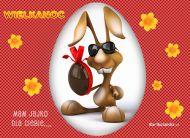 eKartki Wielkanoc Jajko od zajączka,
