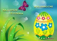 eKartki elektroniczne z tagiem: e-Kartka wielkanocna Jajo na Wielkanoc,