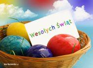 eKartki Wielkanoc Kolorowe jaja,