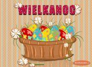 eKartki Wielkanoc Koszyczek na święta,