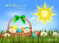eKartki Wielkanoc W koszyczku wielkanocnym,