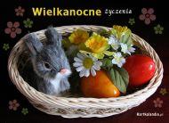 eKartki Wielkanoc Zaj±czek w koszyczku,