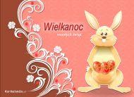 eKartki Wielkanoc Kartka z zającem,