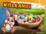 eKartki Wielkanoc Kolorowe jajeczka,