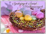 eKartki Wielkanoc Spokojnych Świąt Wielkanocnych,
