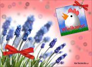 eKartki Wielkanoc Wielkanoc us³ana kwiatami,