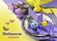 eKartki elektroniczne z tagiem: e-Kartka wielkanocna Wielkanocne �niadanie,