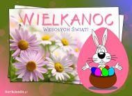 eKartki elektroniczne z tagiem: e-Kartka wielkanocna Wielkanocny zaj�czek,