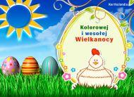 eKartki Wielkanoc Kolorowej i wesołej Wielkanocy,