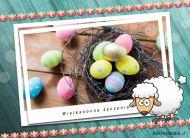 eKartki elektroniczne z tagiem: e-Kartki wielkanocne Wielkanocna owieczka,