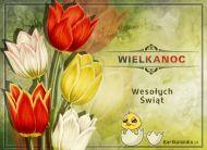 eKartki elektroniczne z tagiem: e-Kartki wielkanocne Wielkanocne tulipany,