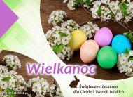 eKartki elektroniczne z tagiem: Darmowe kartki wielkanocne Jajeczka z życzeniami,
