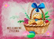 eKartki elektroniczne z tagiem: Kartki Wielkanoc online Koszyczek wielkanocny,