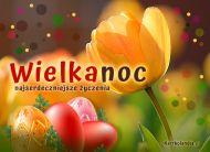 eKartki elektroniczne z tagiem: Kartki Wielkanoc online Wielkanocny tulipan,