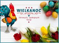 eKartki Wielkanoc Zdrowych Spokojnych Świąt,