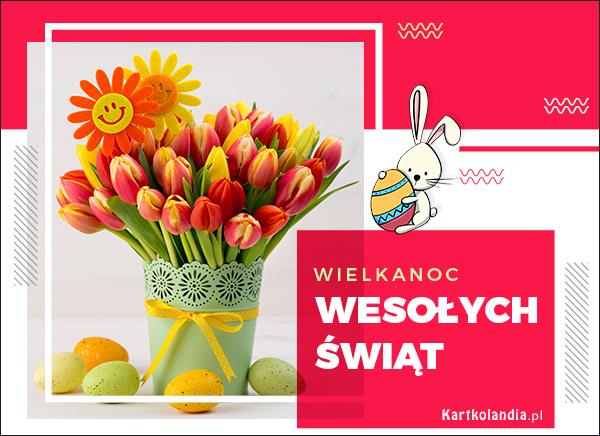 eKartki elektroniczne z tagiem: Tulipan Bukiet wielkanocnych tulipanów,