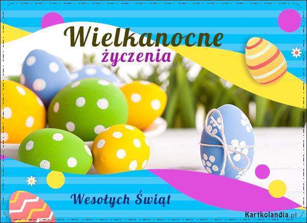 eKartki Wielkanoc Wielkanoc - Kolorowe jajeczka,
