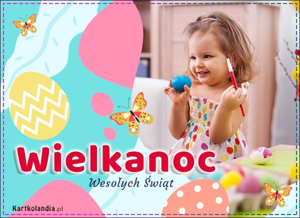 eKartki Wielkanoc Wielkanoc w kolorach tęczy,