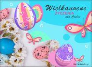 eKartki Wielkanoc Pastelowe jajeczka wielkanocne,