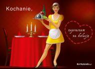 eKartki elektroniczne z tagiem: Zaproszenia na kolację Zaproszenie na kolację,