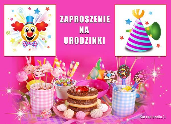 Zaproszenie na urodzinki