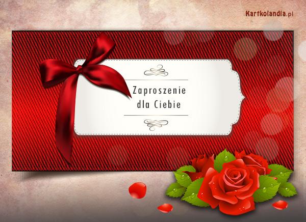 Zaproszenie usłane rózami
