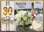 eKartki elektroniczne z tagiem: e-Kartki zaproszenia na Rocznicę Ślubu 30 Rocznica Ślubu,