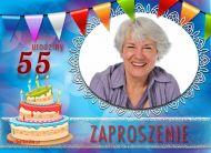 eKartki Zaproszenia 55 urodziny Seniorów,