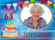 eKartki Zaproszenia 65 urodziny Seniorów,