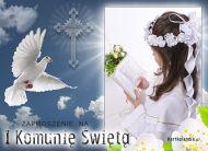 eKartki elektroniczne z tagiem: Zaproszenia na I komuniê ¦wiêt± I Komunia ¦wiêta,