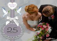 eKartki Zaproszenia Kartka na 25 Rocznicę Ślubu,
