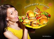 eKartki elektroniczne z tagiem: Zaproszenia na obiad Przek±ska gotowa,