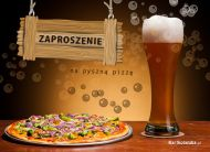 eKartki Zaproszenia Pyszna pizza,