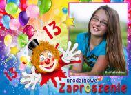 eKartki elektroniczne z tagiem: 13 urodziny Trzynastolatka zaprasza,