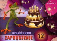 eKartki Zaproszenia Zapraszam na 12 urodziny,